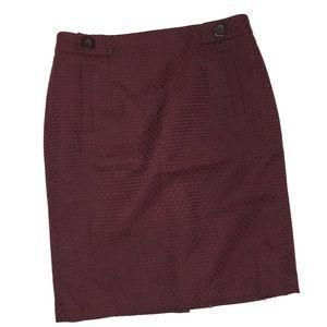 Ann Taylor burgundy pencil skirt Size 6 EUC career